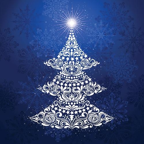 Moda Christmas Fabric 2019.Gradients Holiday Digitally Printed Christmas Tree Panel Ice 57 X 57