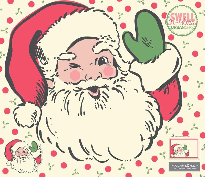 Moda Christmas Fabric 2019.Swell Christmas Santa Applique Panel 57 1 4 X 51