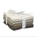 The Colors of Moda Bella Solids Fat Quarter Bundle - Taupes