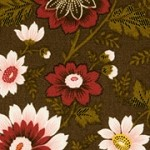 Pomare - Pink Flowers on Brown Background