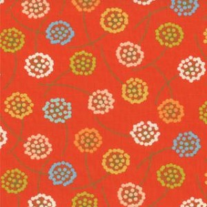 Wrens & Friends - Floral Dandelion - Orange
