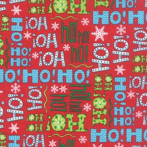 Ho! Ho! Ho! Tossed Words - Red