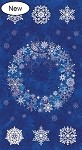 Stonehenge Starry Night 2 - Starlight Blue Wreath Panel with Silver Metallic Accents