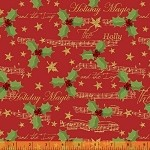 Holiday Magic - Holiday Holly & Music - Red Metallic
