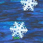 The Very Hungry Caterpillar Christmas - Snowflake - Blue