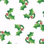The Very Hungry Caterpillar Christmas - Holly Leaves - White