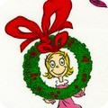 How the Grinch Stole Christmas - White - Cindy Lou in Wreath