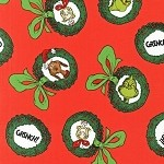 How the Grinch Stole Christmas 4 - Grinch Wreath on Red