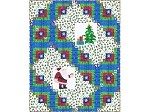 "Log Cabin Christmas - FREE Mfg. Quilt Pattern - 72"" x 90"""