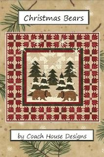 "Christmas Bears Quilt Pattern - 42"" x 42"""