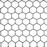 Chicken Wire - Grey on Off-White