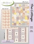 "The Cottage Quilt Pattern  - 76"" X 92"" - 3 Patterns in 1 - Various Sizes!!!"