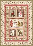 "Holiday Stitches Quilt Kit - 49"" x 68"""
