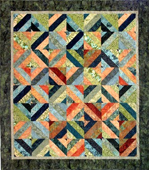 "Tea Time in Bali - FREE Quilt Pattern  - 55 1/2"" x 63"""