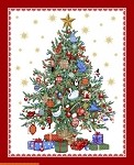 O'Christmas Tree Panel - Multi/Metallic - 36'' x 42''