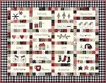 Hometown Christmas Quilt Pattern 68'' x 54''