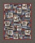 NEW!!  Town Square Quilt Kit - 65'' x 79''