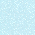 Penguin Party Flannel Stars - Blue