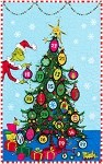 Grinchmas Tree Countdown Wall Hanging Quilt Kit - 22'' x 35''