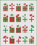 Gift Wrap Quilt Kit - 57'' x 67'' - Includes Double Wide Dresden Ruler