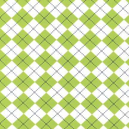 Remix - Argyle - Green & White