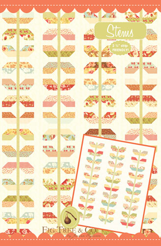 Stems Quilt Pattern - 3 Styles, 2 Sizes - Jelly Roll  Friendly