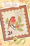 Winter Robin Pattern  - Wall Hanging - 18 3/4