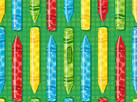 Crayola - Ready, Set, Color! -  2 Way Crayons - Green