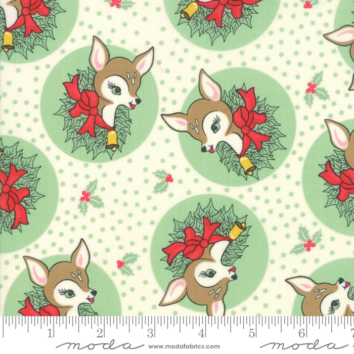 Deer Christmas Polka Dot Deer - Spearmint