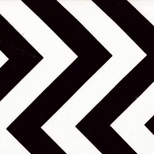 Half Moon Modern Zig Zags - Black - Medium Chevron