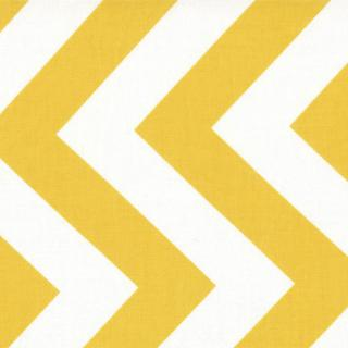 Half Moon Modern Zig Zags - Sunshine - Medium Chevron