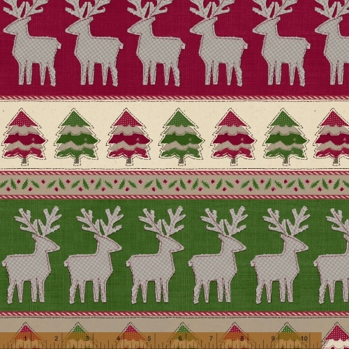 Craft Paper Christmas Sweater Stripe Border