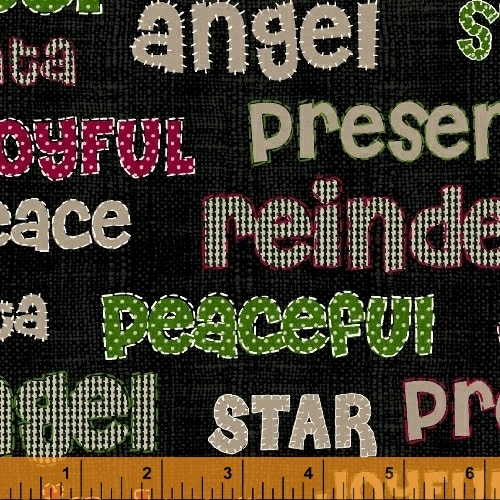 Craft Paper Christmas Word Print - Black