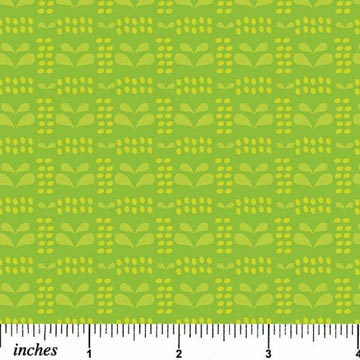 Pinfeathers - Bright Green on Green - Print