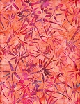 Anthology Hand Made Batiks  - Orange w/Purple Print