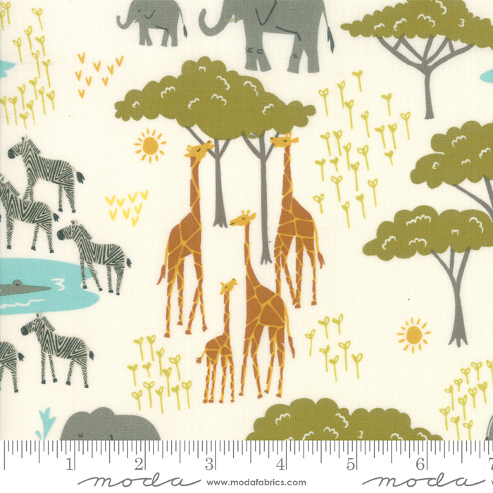Safari Life Plains Animals - Cream