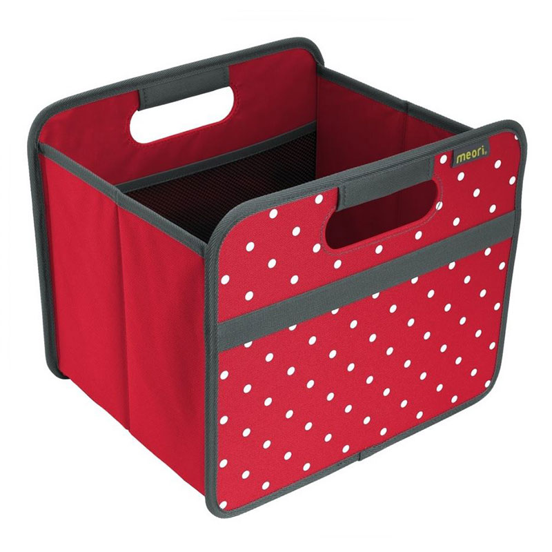 Meori Small Foldable Box - Hibiscus Red Dot