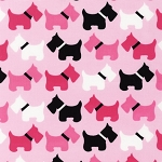 Urban Zoologie - Pink - Dogs