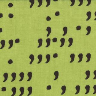 Comma Commas - Lime & Black