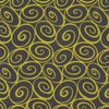 Swirls - Lime Green on Charcoal