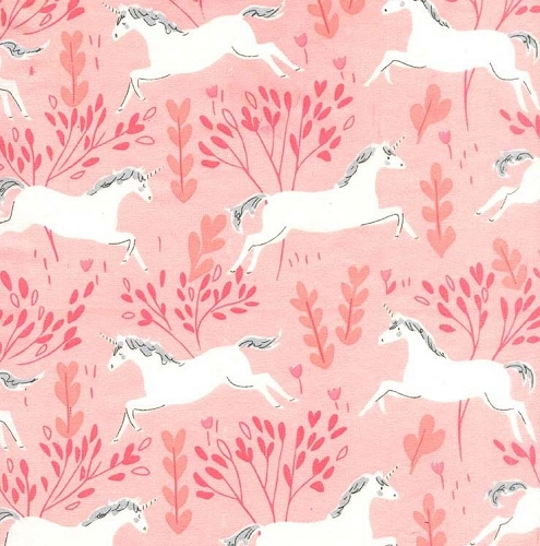 Magic Flannel Unicorn Forest - Blossom