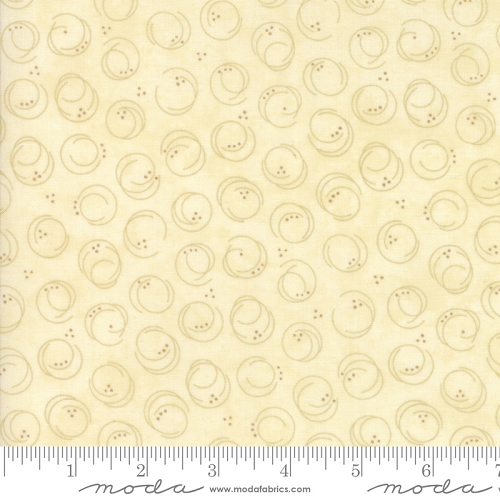 Forever Green Circle Print - Tonal Cream