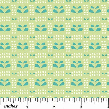 Pinfeathers - Bright Green & Blue - Print