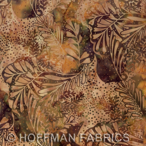 Hoffman Hand-Painted Bali Batiks - Balsam - Leaves