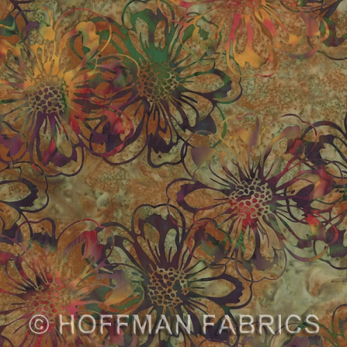 Hoffman Hand-Painted Bali Batiks - Incense - Flowers