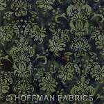 Seasonal Hand-Painted Bali Batiks - Hunter - Print