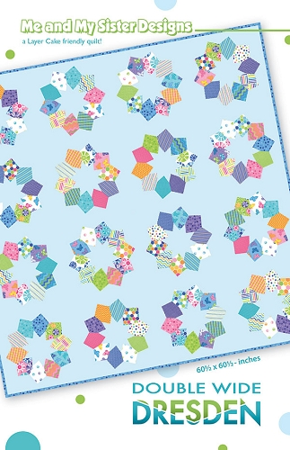 Double Wide Dresden Quilt Pattern - 60.5'' x 60.5'' - Layer Cake Friendly