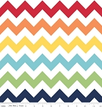 Rainbow Medium Chevron