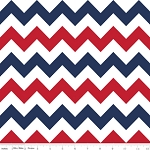 Patriotic Medium Chevron - Red-White-Blue