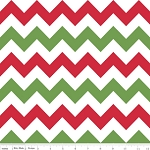 Christmas Medium Chevron - Red-White-Green